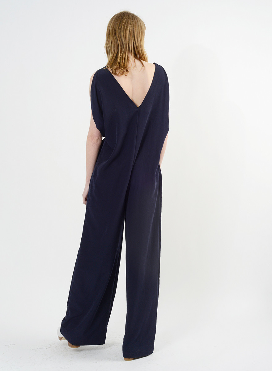 Airflow Jumpsuit  - Navy