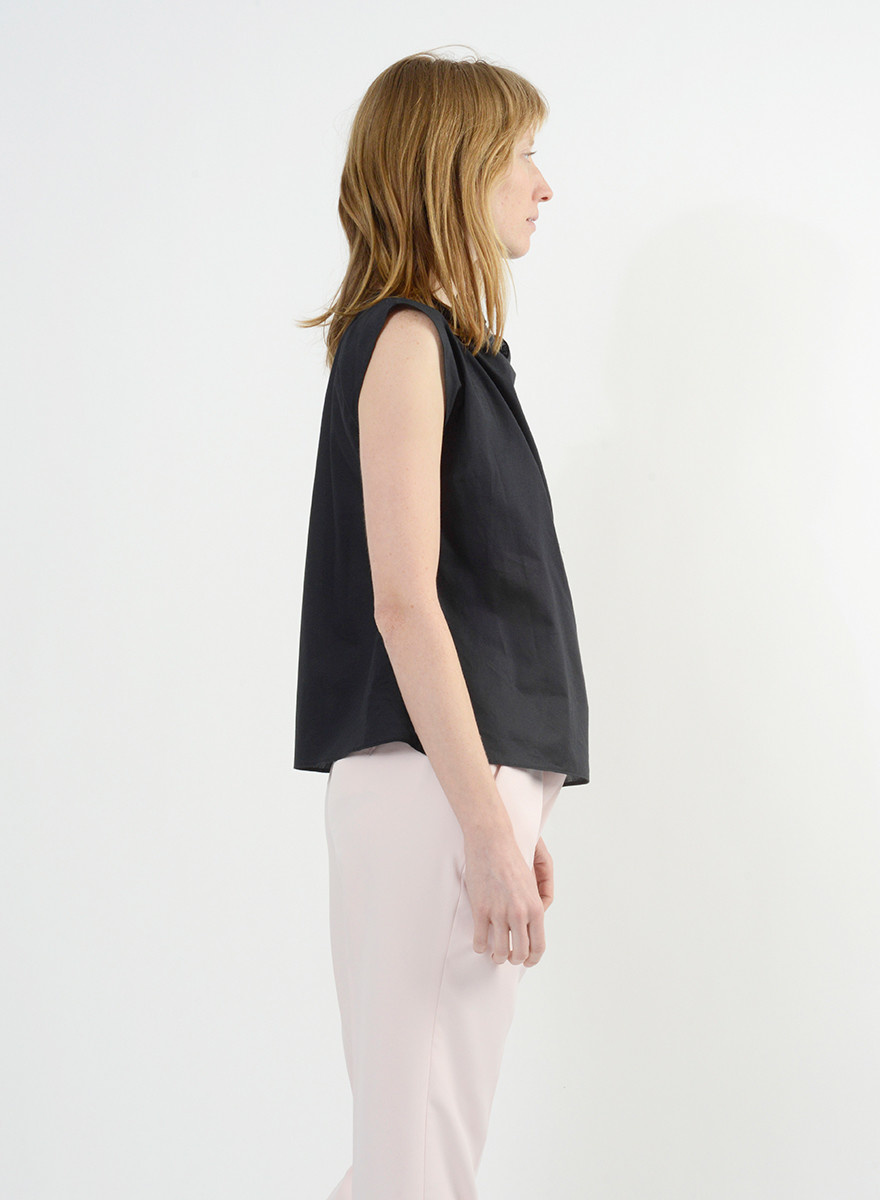Neck Tie Shirt - Black