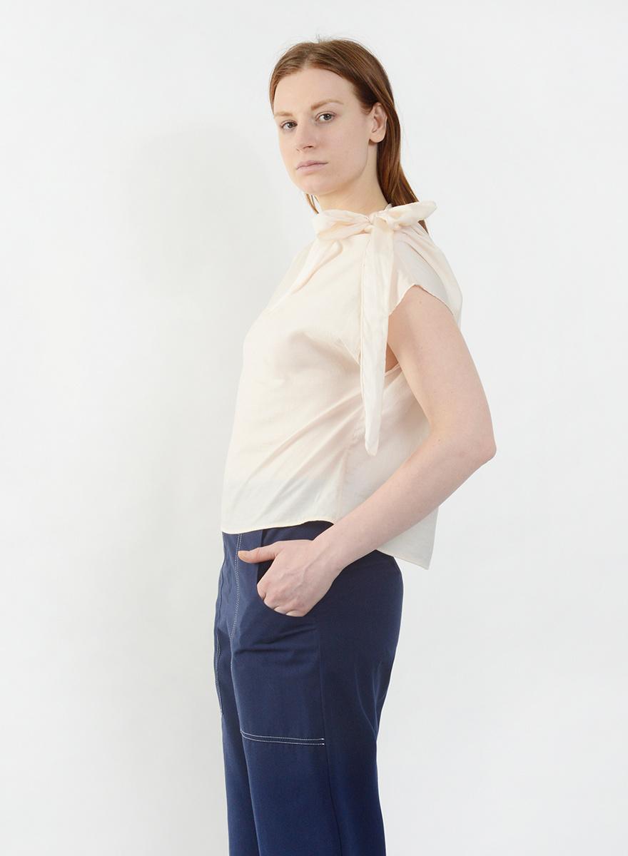 Neck Tie Shirt - Peach