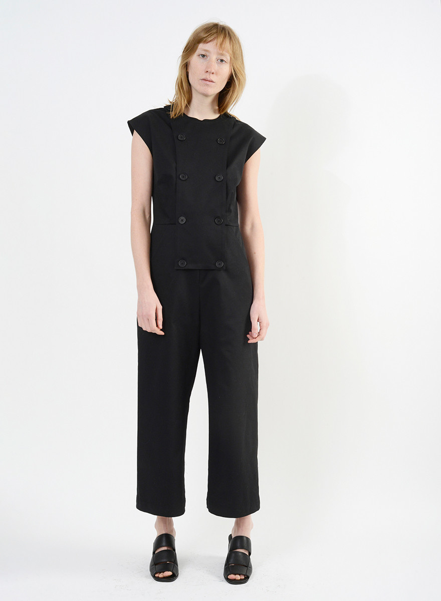 Bib Jumpsuit - Black