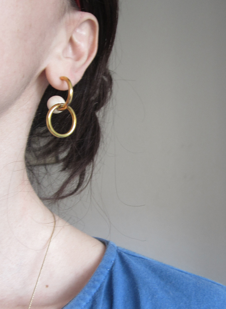 Sew-A-Song - Linked Hoop Earrings