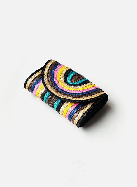 Straw Rainbow Clutch