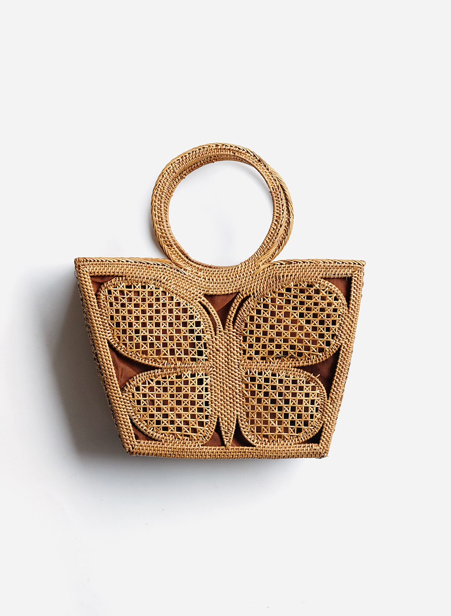 Woven Butterfly Tote