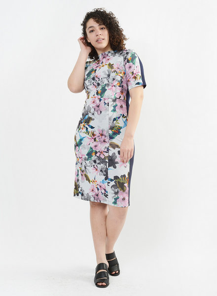 Floral Joint Dress - Floral Ink