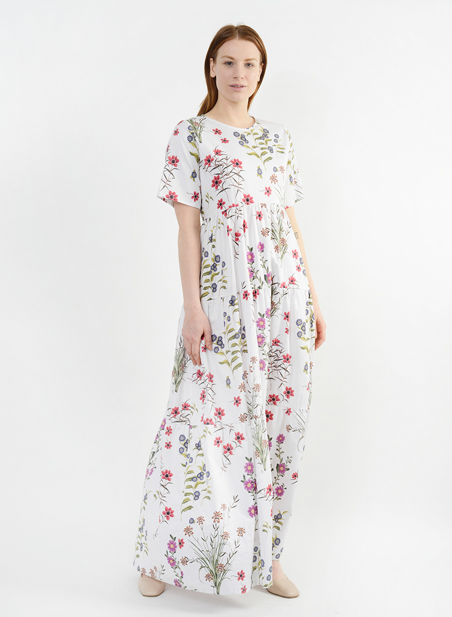 T Shirt Tiered Gown - Teeny Floral