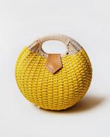 Yellow Paperbraid Purse