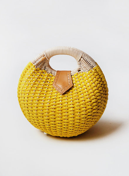 Yellow Paperbraid Purse