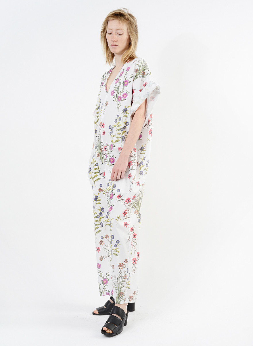 Summer Overthrow Jumpsuit - Floral