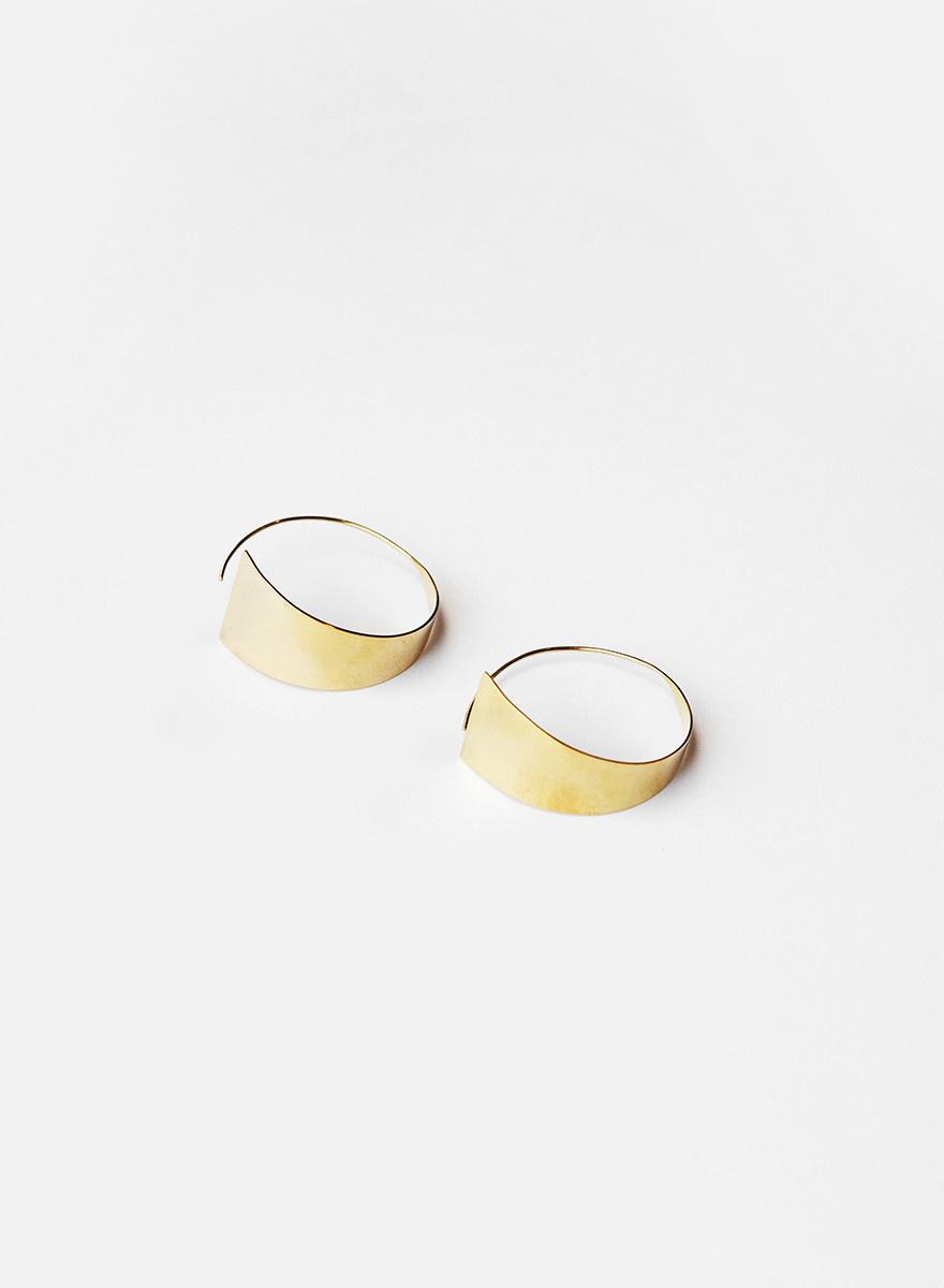 Soko Soko - Zuri Threader Hoop Earrings