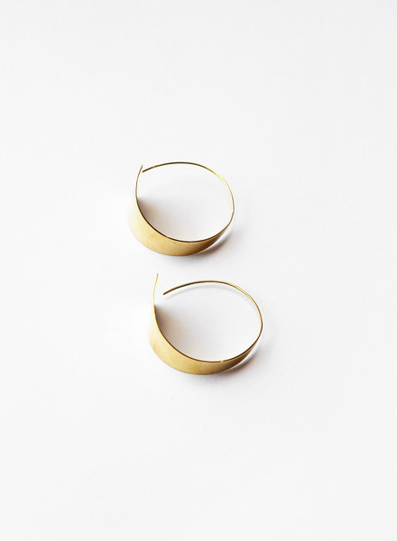 Soko Soko - Zuri Threader Hoop Earrings
