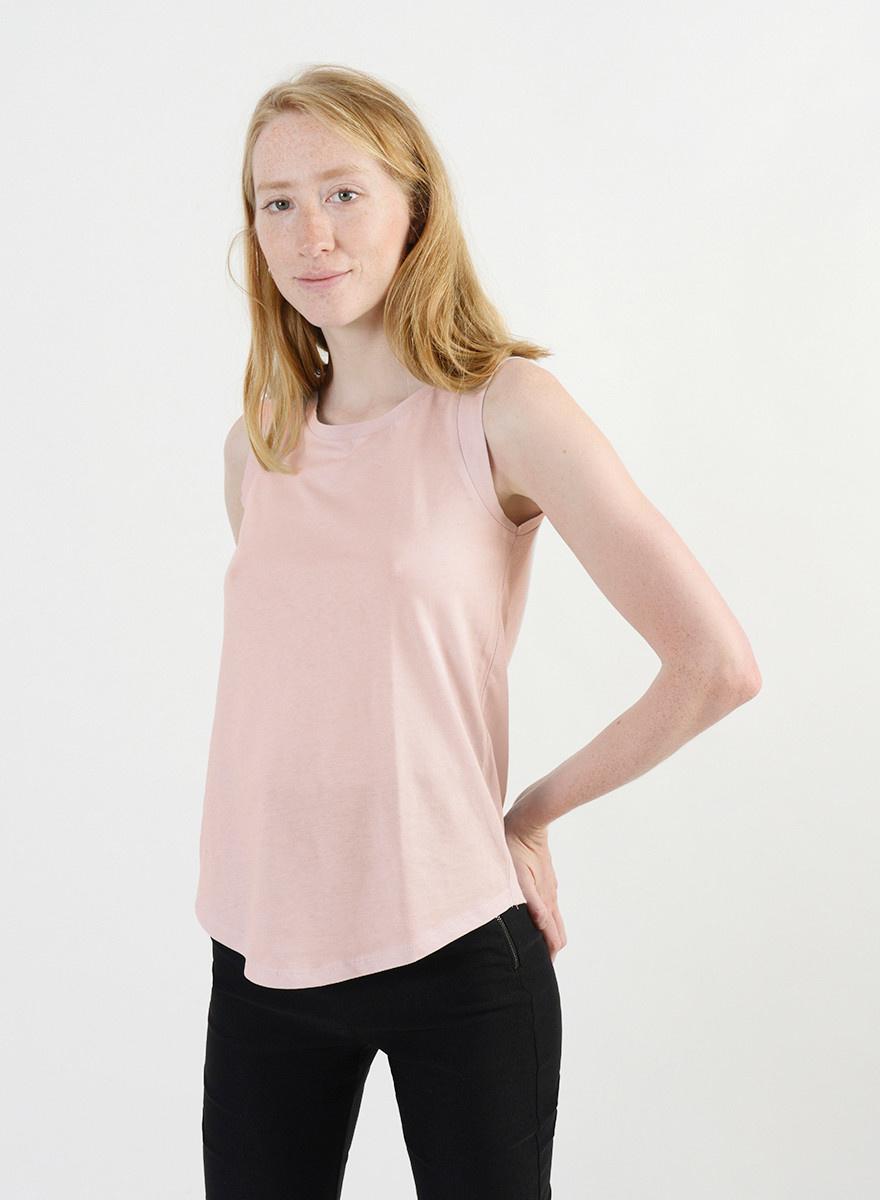 Cap Sleeve Tank - Pink