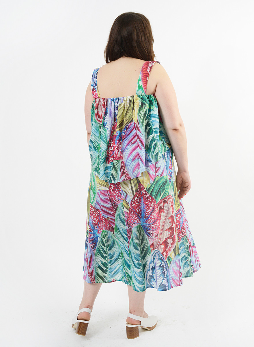 Mai Tai Dress - Floral Palm