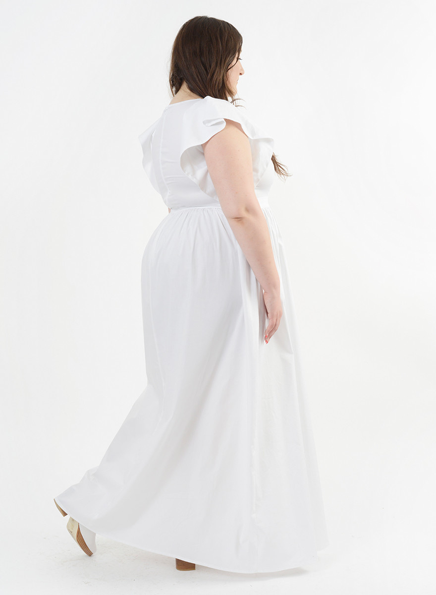 Camilla Cocktail Gown - White