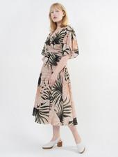 Bali Wrap Dress - Palm Print