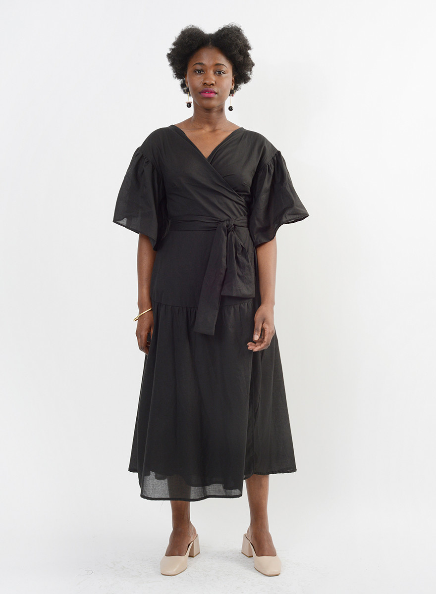 Bali Wrap Dress - Black