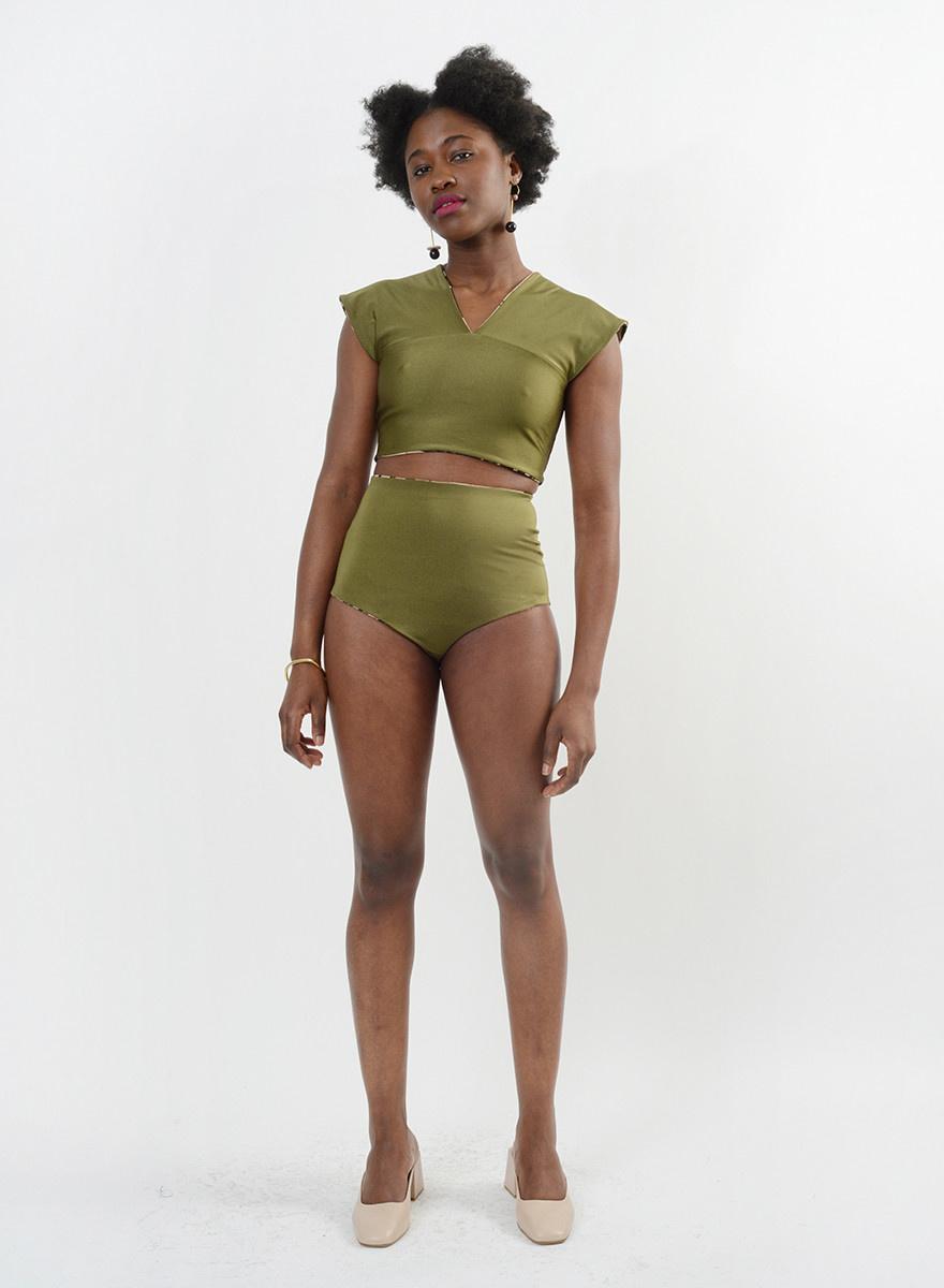 Wide Strap Bikini Top