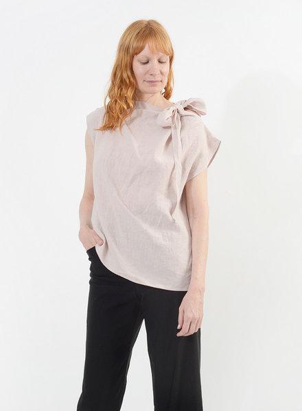 Linen Neck Tie Shirt - Musk