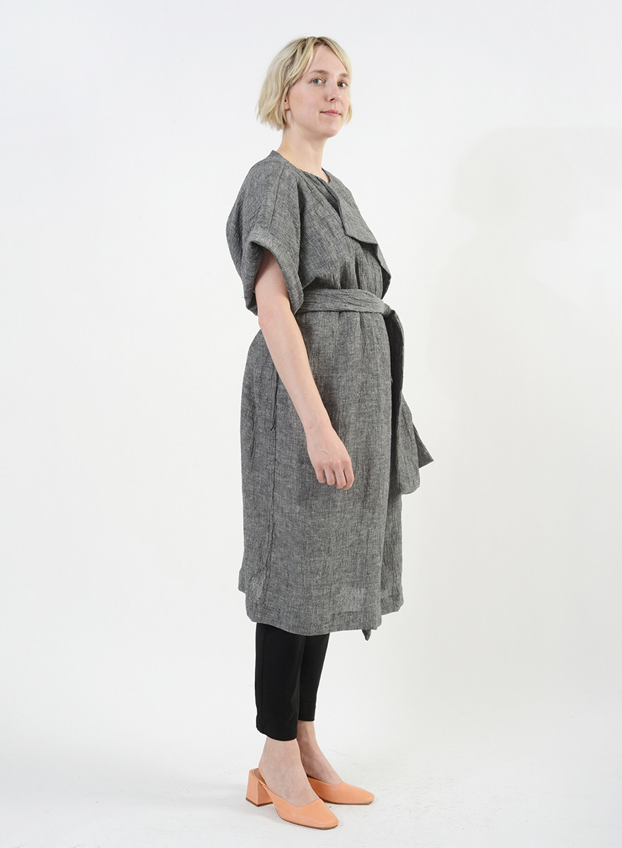 Duster Too Dress - Black/White