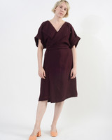 Duster Too Dress - Eggplant
