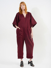 Overthrow Jumpsuit - Burgundy