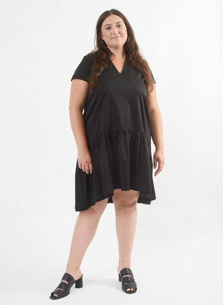 V Neck Buddy Dress - Black