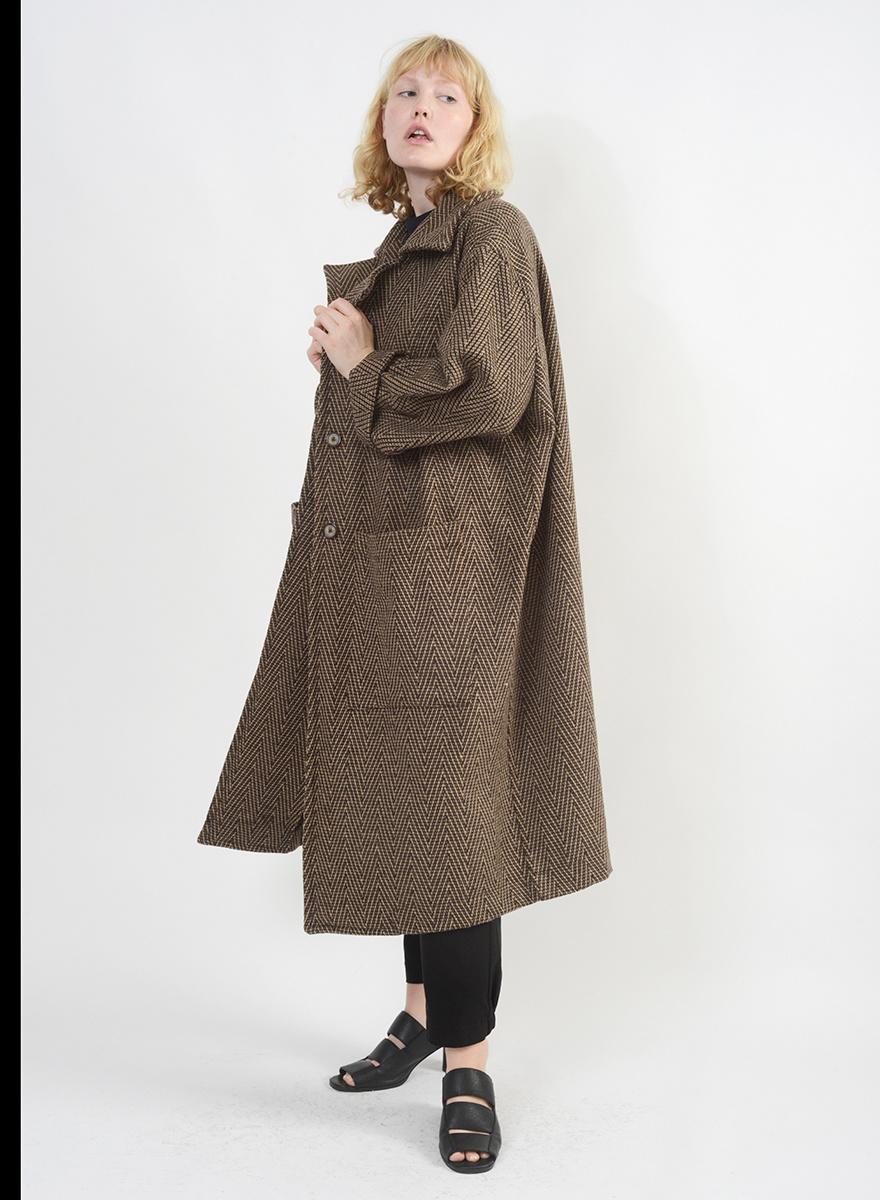 Sequel Coat - Brown Multi