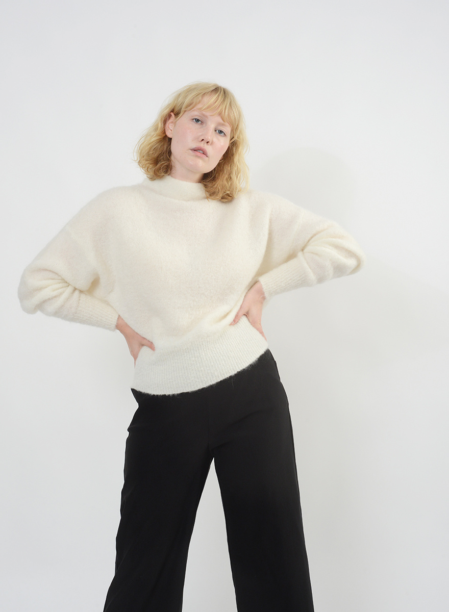 Funnel Neck Sweater - Ivory