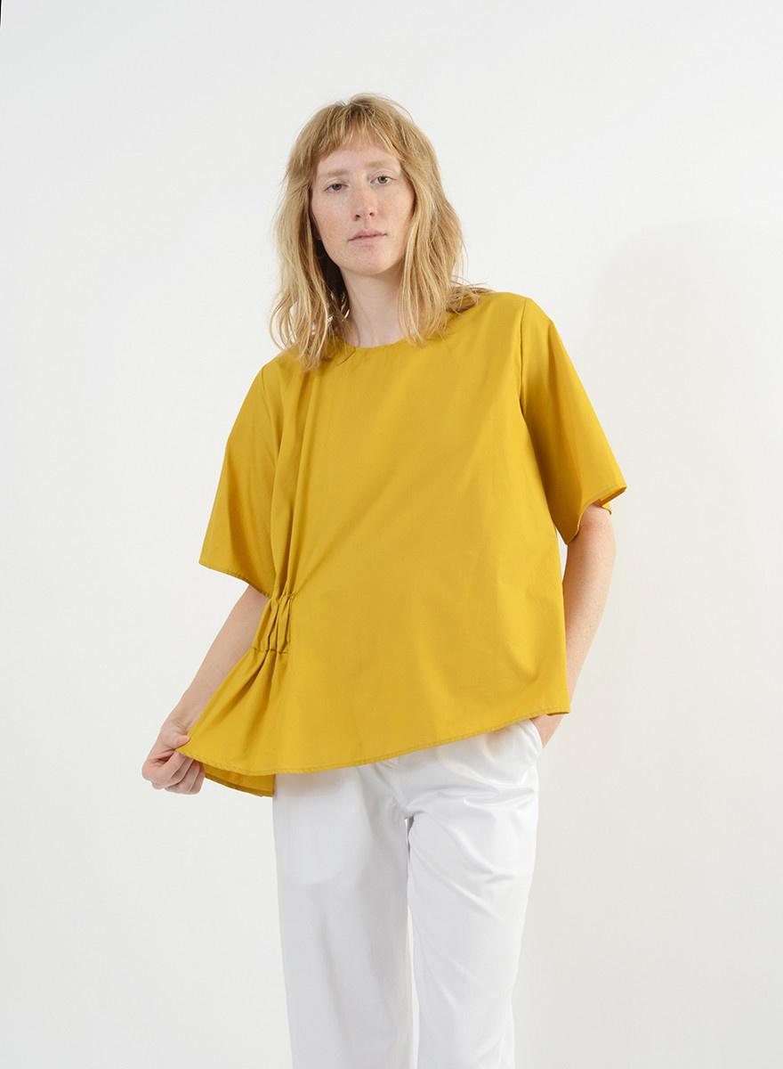 Elastic Side Top - Mustard