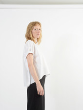 Elastic Armhole Top - White