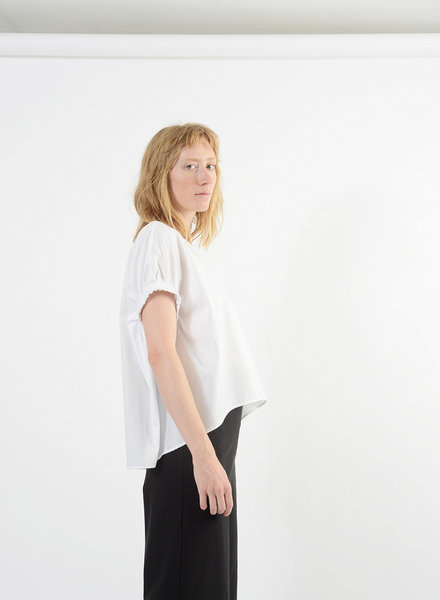 Elastic Armhole Top - White