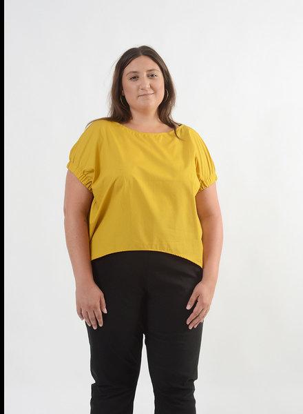 Elastic Armhole Top - Mustard