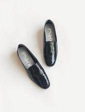 Ops Ops Loafer - Patent Bardot Black
