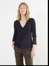 V Neck Shirt - Navy