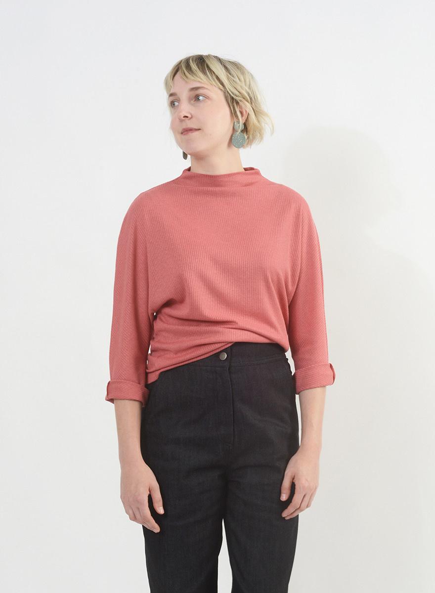 Batwing Shirt - Lipstick