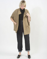 Short Sweater Jacket - Beige