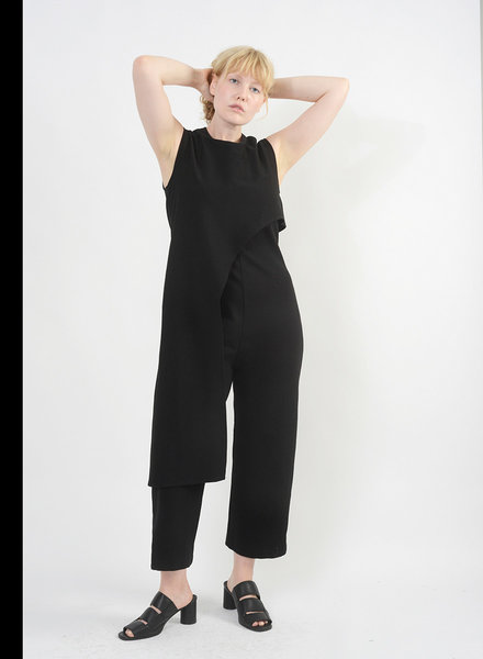 Ponte Baroque Jumpsuit - Black