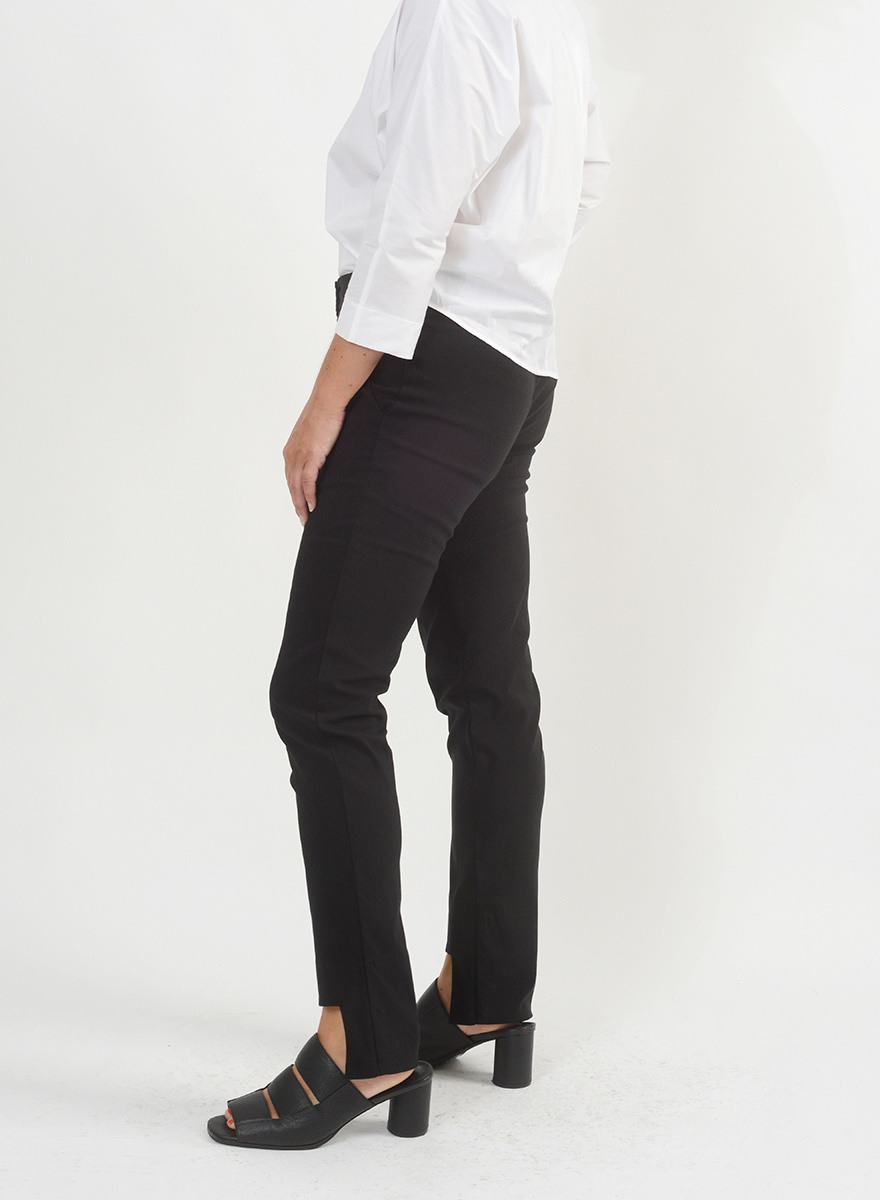 Cut Out Pant - Black
