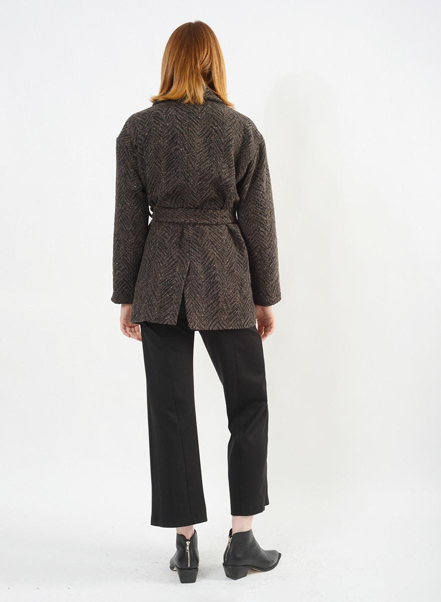 Wool Chi Chi Jacket - Brown
