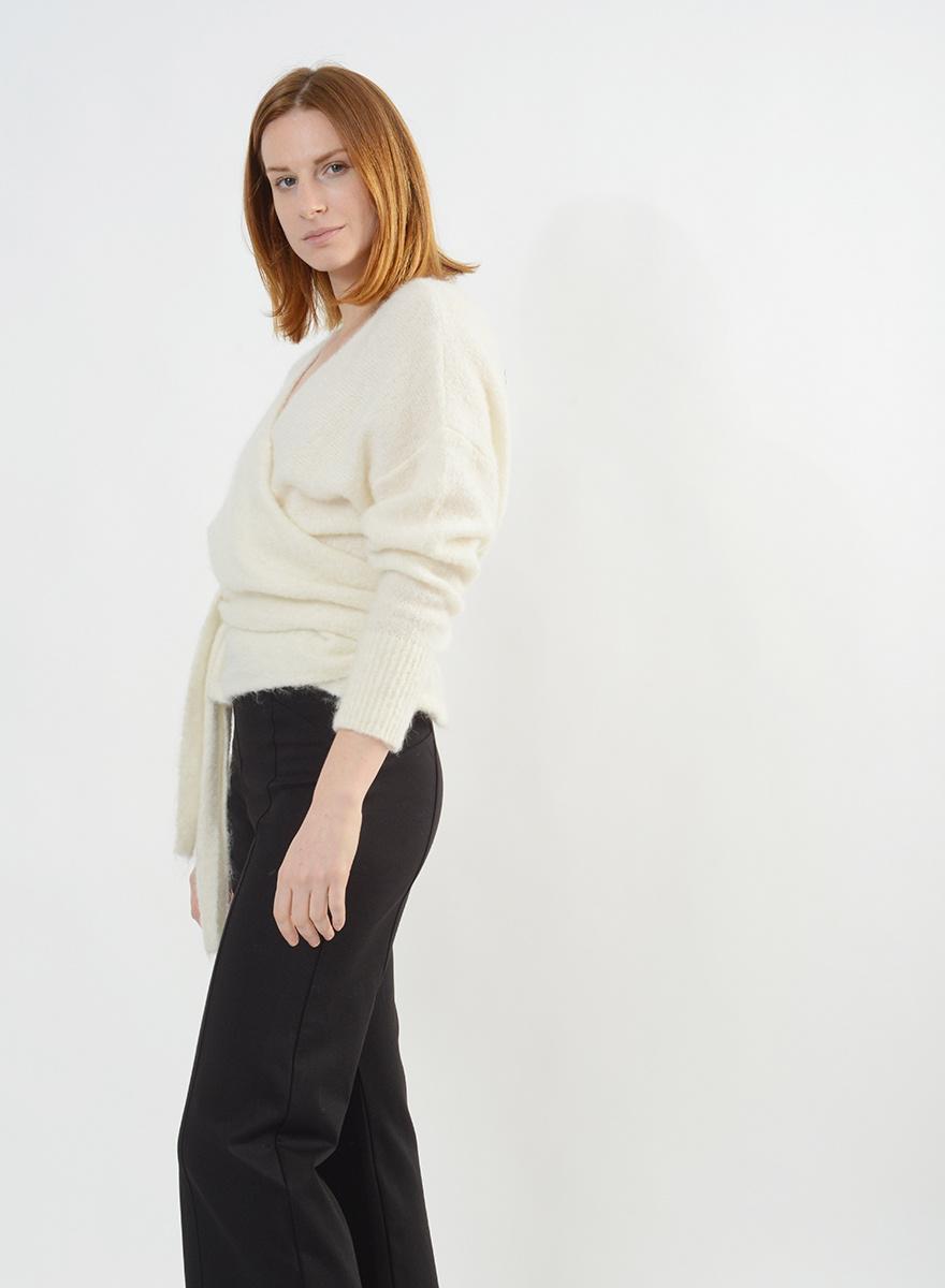 Wrap Sweater - Ivory