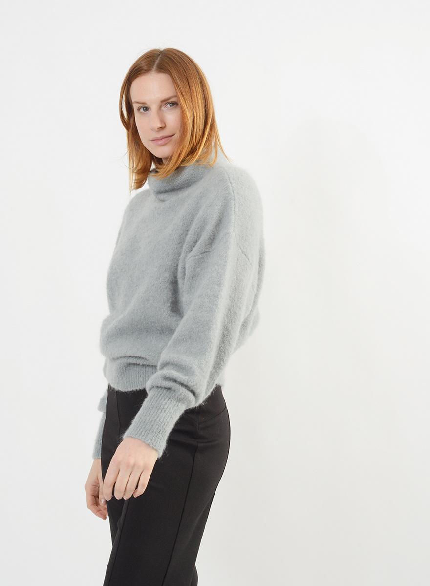Funnel Neck Sweater - Mist