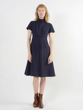 Invert Pleat Dress - Ink
