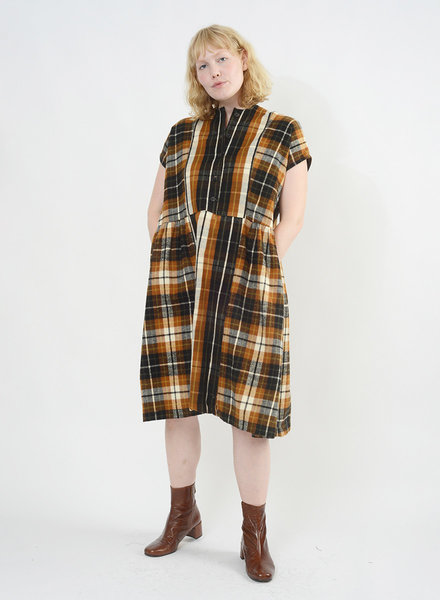 Flannel Cairo Dress - Chestnut