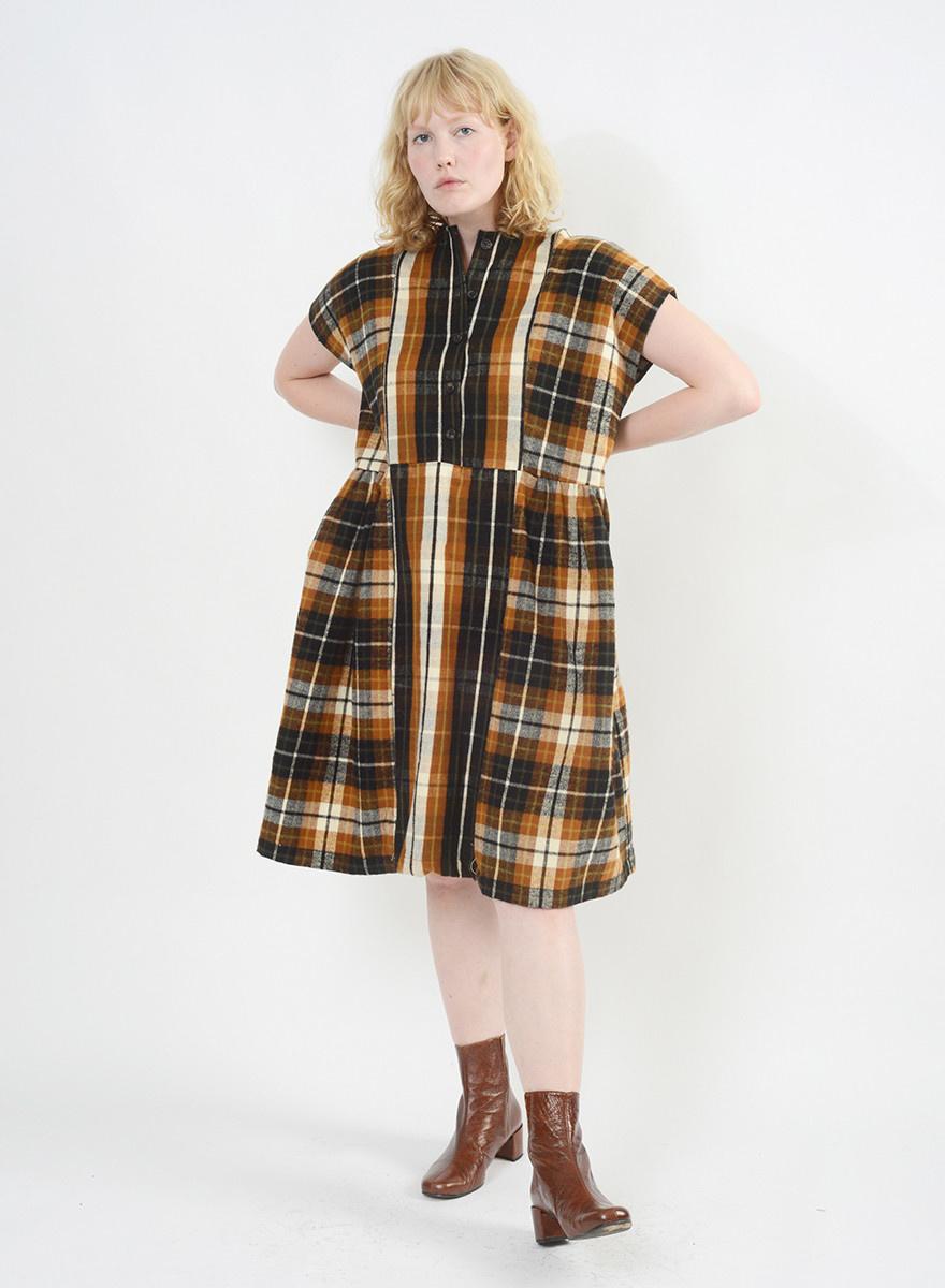 Flannel Cairo Dress - Chestnut