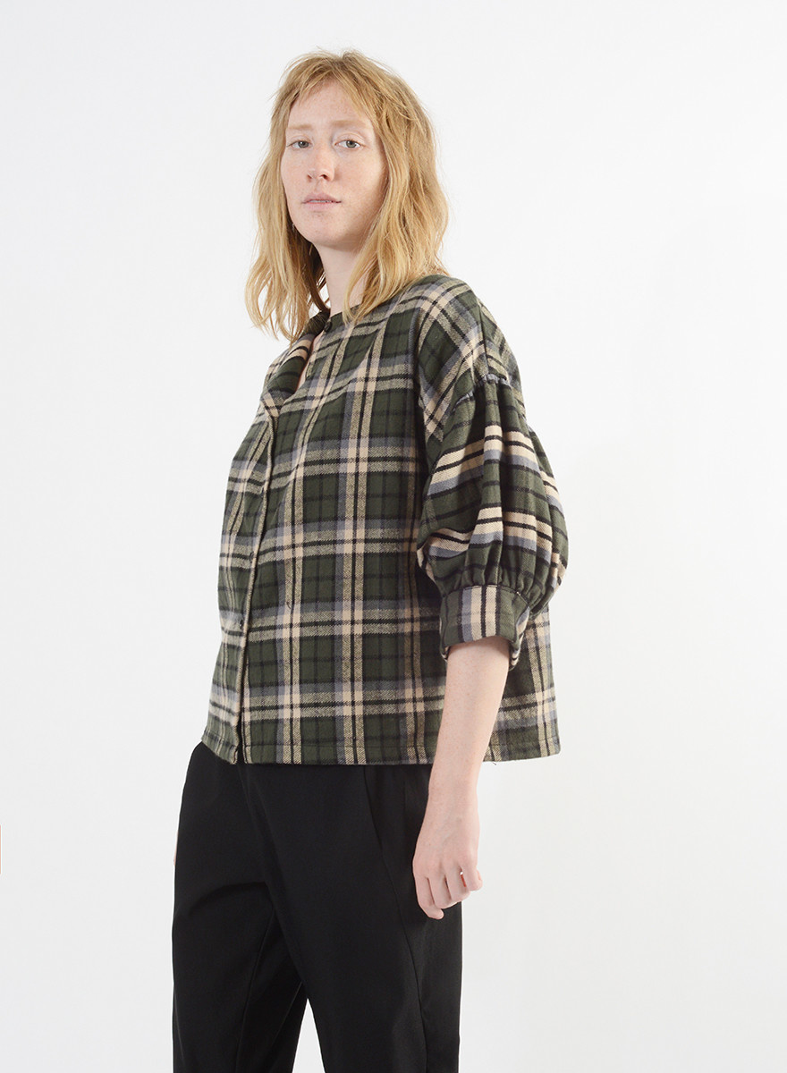 Flannel Poet Top - Forest