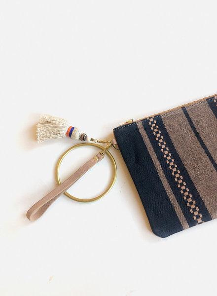 Bloom & Give Paula Leather Clutch - Indigo