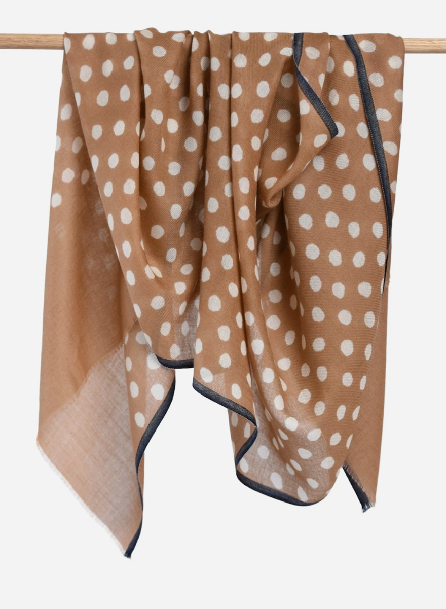 Bloom & Give Maya Dot Scarf - Blush