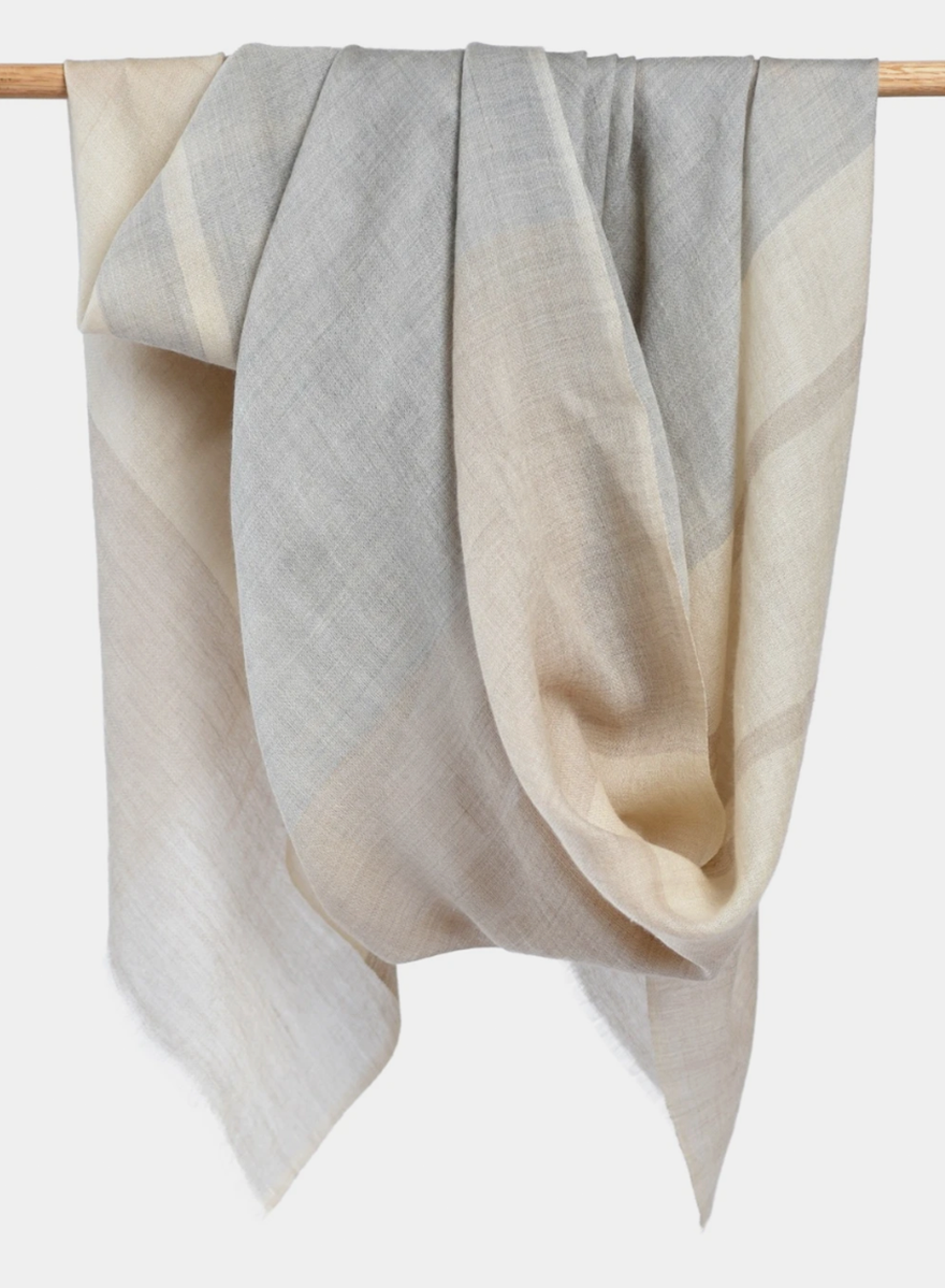 Bloom & Give Alice Cashmere Scarf - Ivory