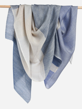 Bloom & Give Alice Cashmere Scarf - Blue