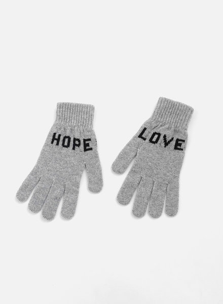 QC Love Hope Gloves - Grey/Black