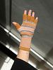 QC Fingerless Gloves - Ochre/Pink